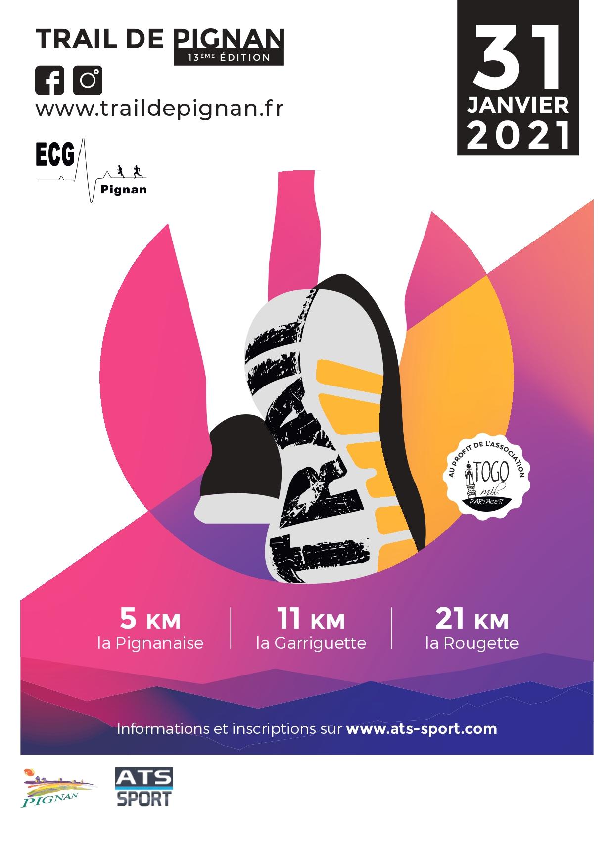 trail de pignan janvier 2021