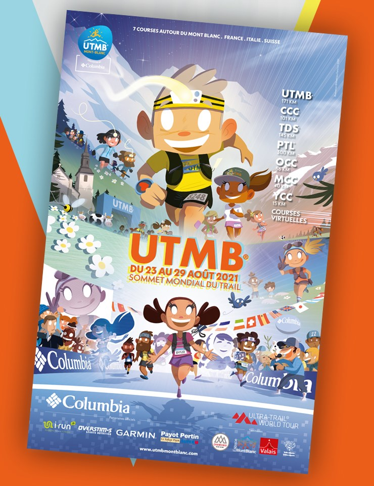 affiche UTMB 2021